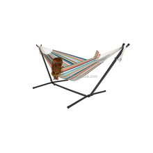 2016 Double Hammock With Space Saving Steel Stand Includes Portable Carrying Case DF-21-1