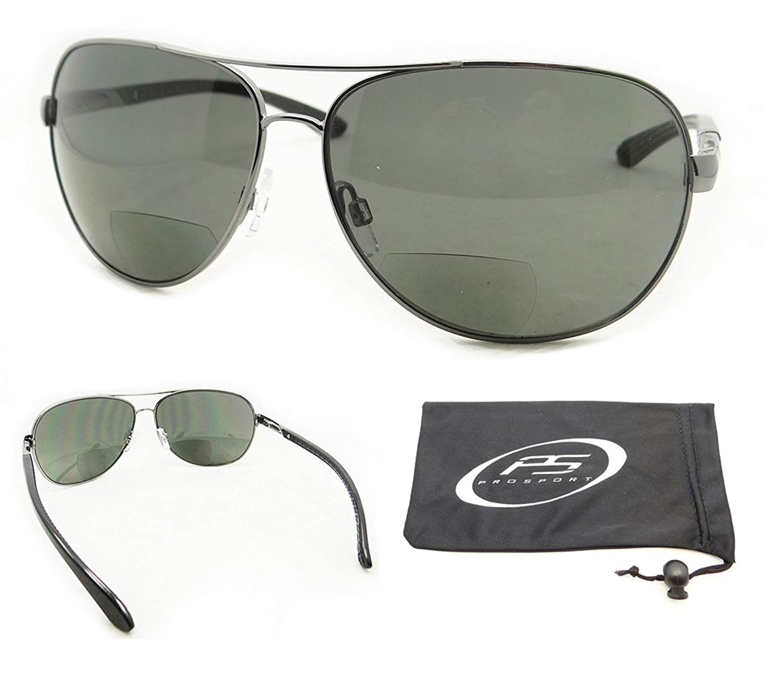 3bde829e95 Get Quotations · Aviator Polarized Bifocal Sunglasses for Men. Aailable in  1.50
