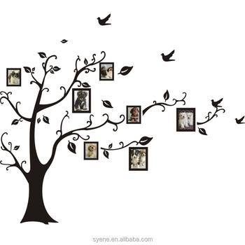 Family Photo Frame Tree Wall Decal Living Room Wall Stickers Decor ...