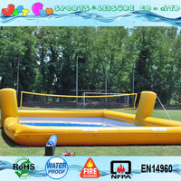 kids n adults inflatable aqua volleyball court games for sale