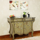 painting flowers france antique rustic wood furniture cabinet