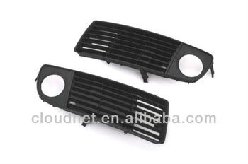 Replacement Front Lower Side Cooling Air Grille with Fog Light Cutout For Audi A6 C5 (99-01)