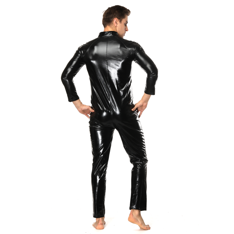 mens xxxl sizes catsuit sexy leather catsuit for men male to female  bodysuits