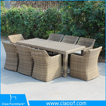Synthetic Rattan Square Dining Table