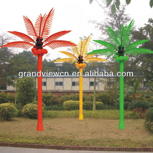 outdoor use Charming green color Led palm tree/Led Coconut tree lights popular all over the world