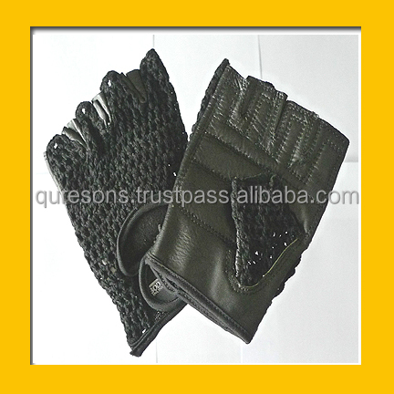Body building exercise Half finger leather gloves NW0103