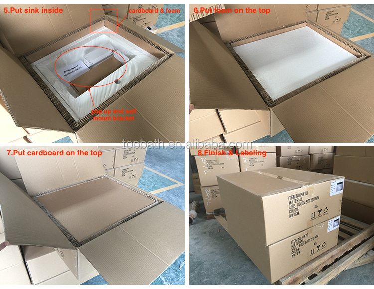 Solid Surface Wall Hung Basin Bathroom Artificial Stone