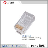 LY-US010 UTP Cat.6 8P8C Modular Plug Modular LAN Network Connector Internet RJ45 Plug