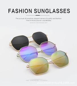 cb1c9f994144 Round Big Size Metal Frame Hallow out oversize Sunglasses for Women men