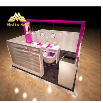 Wholesale Manicure Table Nail Bar Furniture Design For Shopping Mall