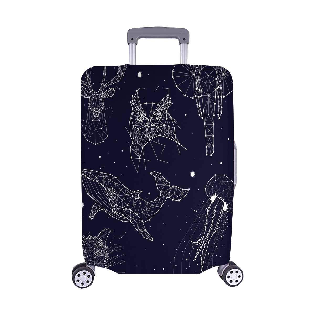 LAVOVO Cute Floral Owls Luggage Cover Suitcase Protector Carry On Covers