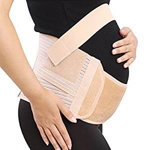 Goege Pregnancy Maternity Belly Support Belt-Breathable Abdominal Binder,Waist Back Abdomen Support Belt,Size:XL