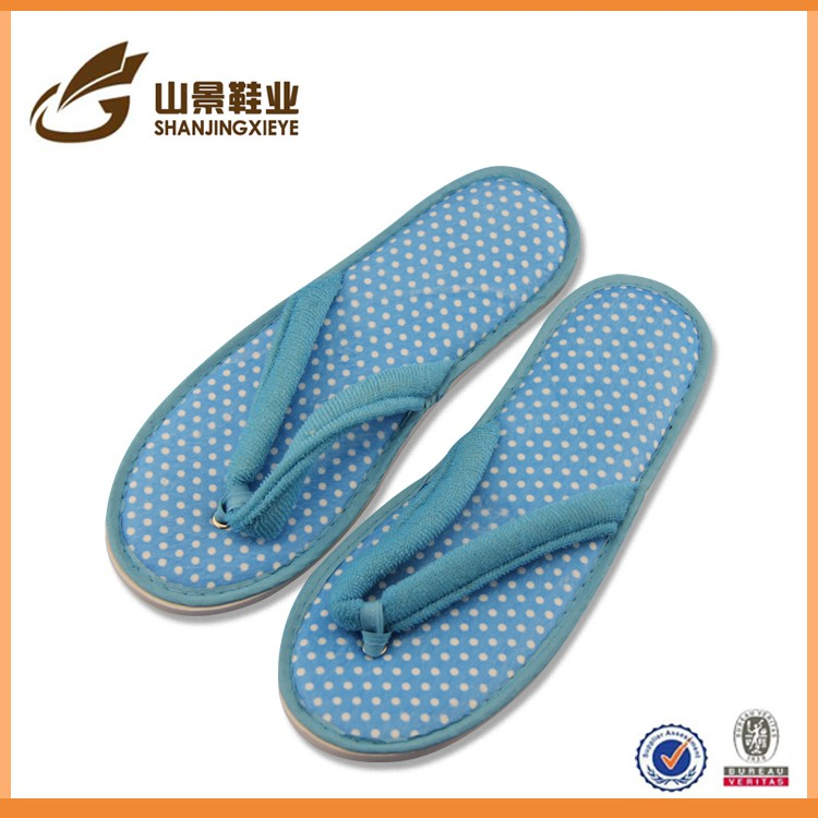 cleaning soft felling waterproof custom indoor flip flop slipper
