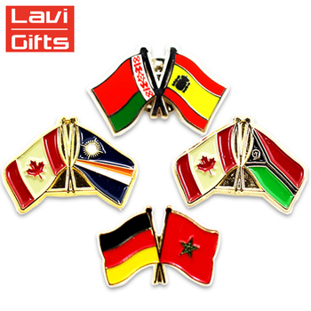 Wholesale Cheap Custom Australia Canadian National Country Flag Lapel Pin