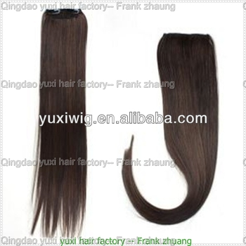 100% brazilian human hair drawstring ponytail