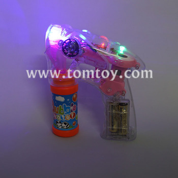 Plastic Light Up LED Bubble Gun With Sound
