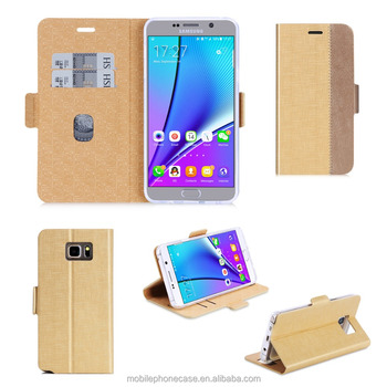 Alibaba Mobile Phone Accessories Assorted Color Magnet PU Leather Phone Case For Samsung Galaxy Note 5