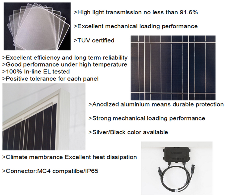 SAKO high efficiency 310W 36V 5BB watt solar panel Polycrystalline 72 cells solar panel