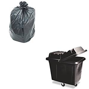 KITPNL519RCP461200BLA - Value Kit - Black Laundry amp; Waste Collection Cube Truck, 400lb (RCP461200BLA) and Penny Lane Linear Low Density Repro Can Liners (PNL519)