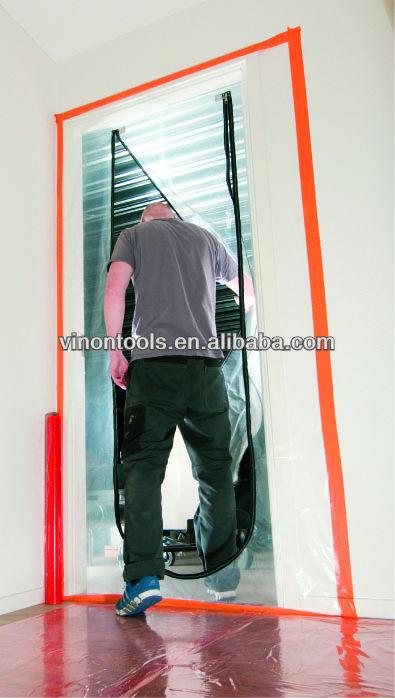 Plastic Zip Door Plastic Door Protector Dust Protection