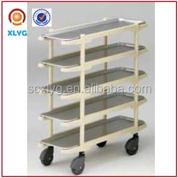 rolling five tier grocery pink storage cart