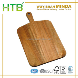 Acacia Pizza Peel Wooden Pizza Paddle Acacia Serving Board with Handle