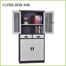 modern office furniture steel swing door glass display filing cabinet/ credenza