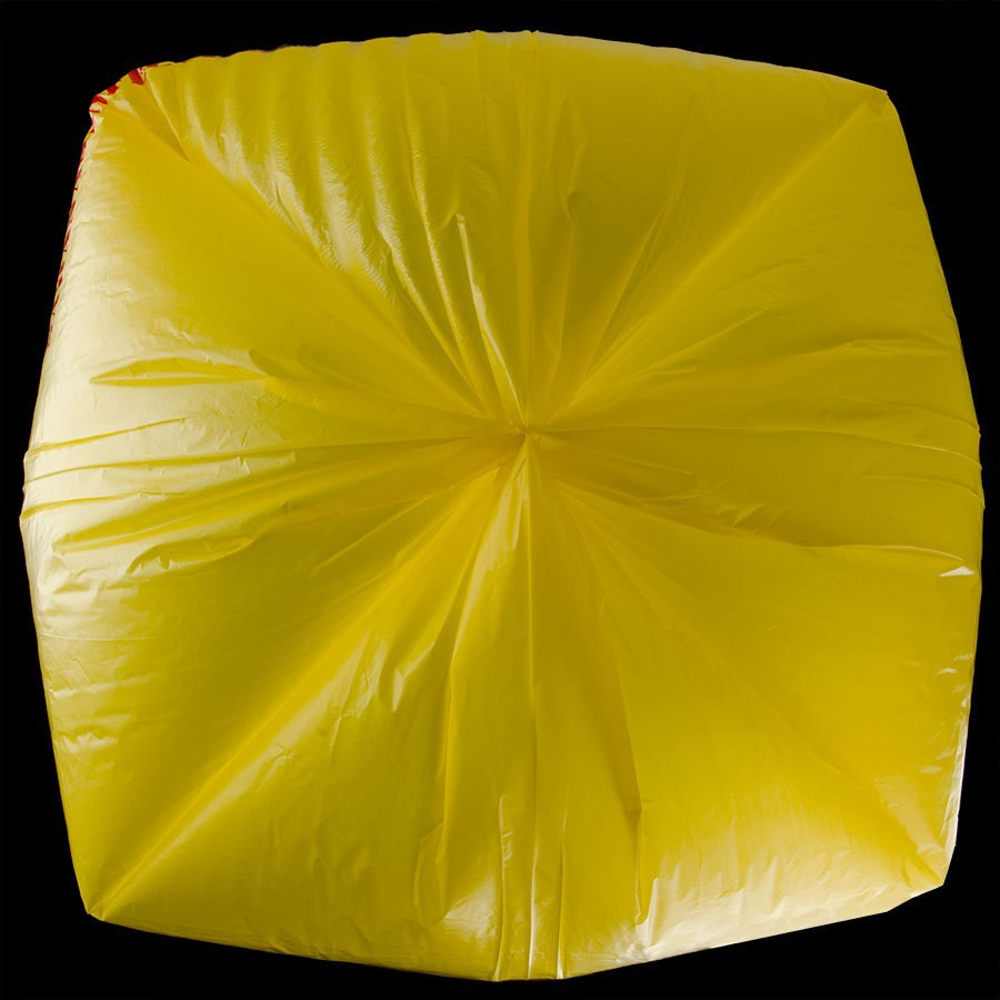 "wholesale tb-136 44 Gallon 37"" X 50"" Yellow Infectious Linen High Density Isolation Medical Waste Bag / Biohazard Bag 17 Microns"