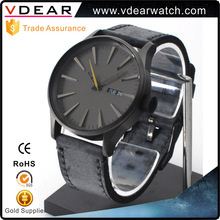 New design big brand genuine leather strap men's fashion watches custom logo