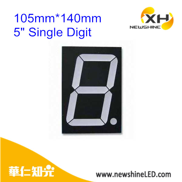 7-Segment LED Display Digitron Common Cathode 1 Digit LED Digital Display 5 Inch