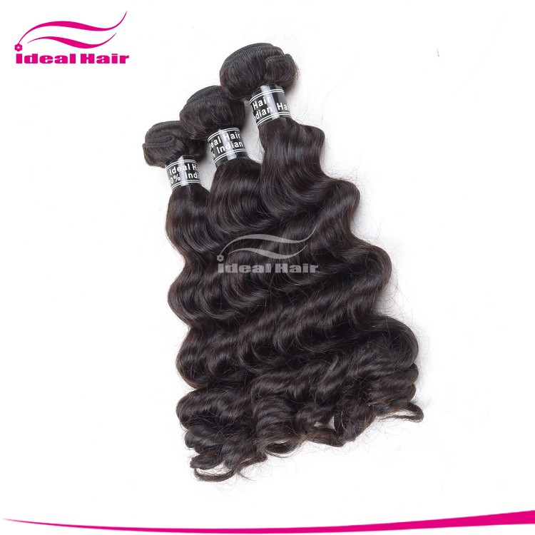 Hindu Temple Indian Virgin Human Hair Extension Wholesale Extension