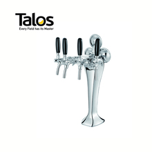 TALOS Cobra Tap Tower Chrome 4-way Dispensing Tower Draft Beer Tower