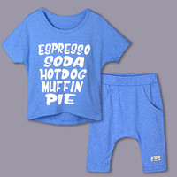 Baby Boy Fashion Clothing 2016 Summer Kids Sets Blue Cptton T Shirt And Shorts 5 Pcs/lot CS40224-23
