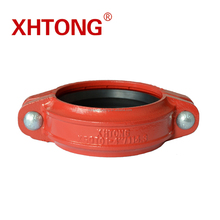 Casting iron grooved pipe fitting FM UL approved ductile iron groove rigid/flexible coupling for fire fighting