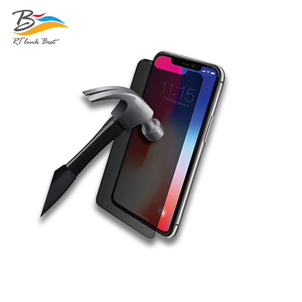RT Link Best  screen protector HD full cover Anti privacy screen protector for iphone X mobile screen protector