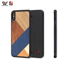 2019 New Product Custom Wooden Phonecovers PU Leather Fundas Para Celulares