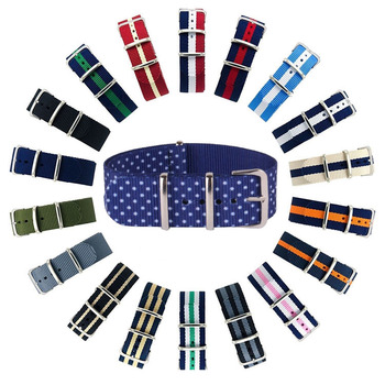 Pattern Bulk 20mm 22mm 23mm Nylon Custom Nato Watch Straps