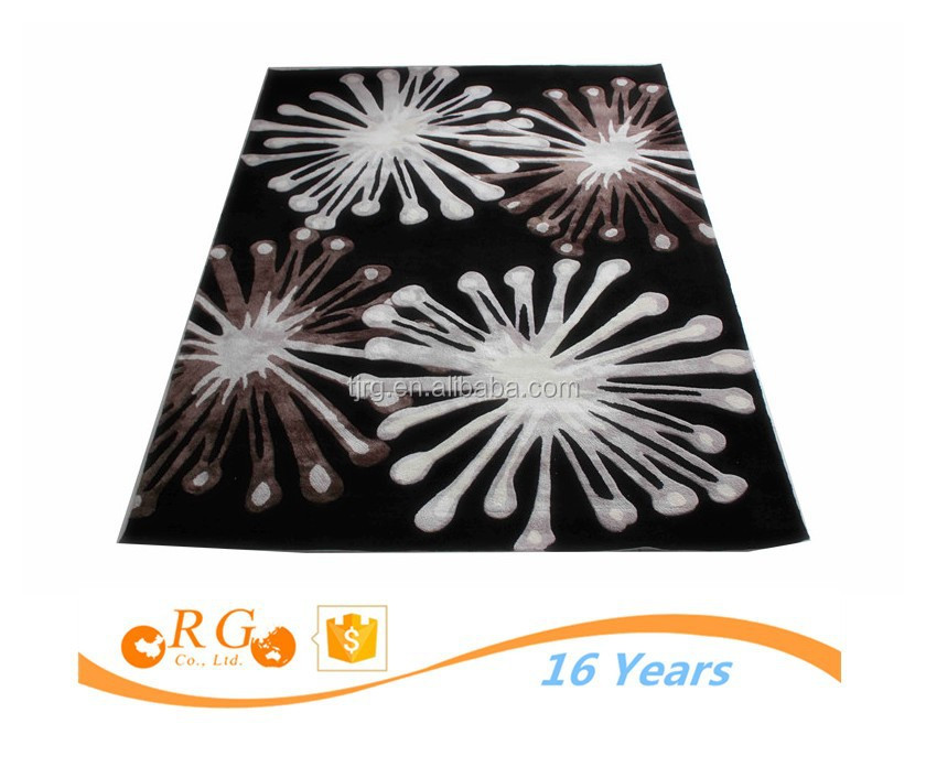 removable custom antislip exhibition fashion recycled plastic rugs