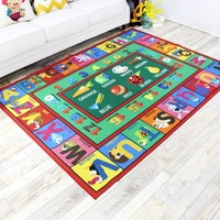 ABC Number and Color Educational Learning & Game Kids Play Area Rugs