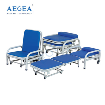 AG-AC003 foldable convertible medical reclining portable hospital accompany chair