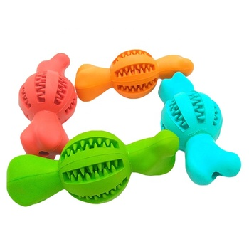 Amazon Top Seller Dog Chew Toy Natural Rubber Dog Train Treat Bone Interactive Teeth Cleaning Dog Toys Pet