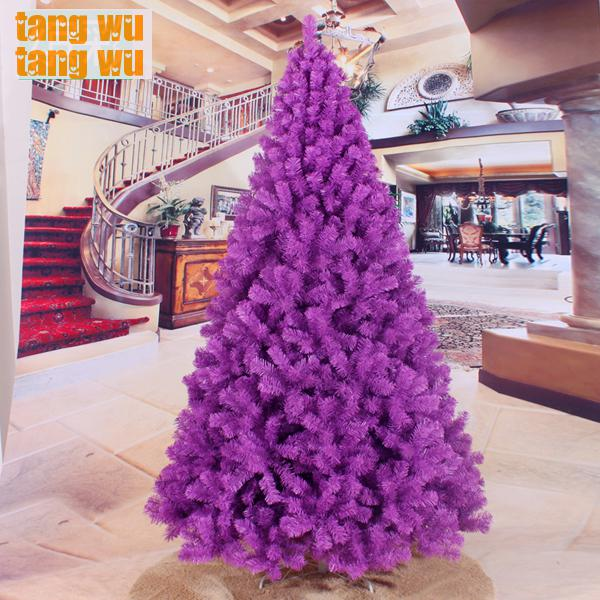 Purple And White Christmas Tree: Free Shipping 240cm Encryption Purple Christmas Tree 2.4