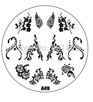 2015 new A Series A49 Nail Art Polish DIY Stamping Plates Image Templates Nail Stamp Stencil
