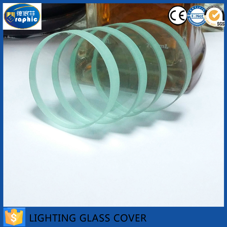 Customized heat resistance led lighting circle glass in alibaba