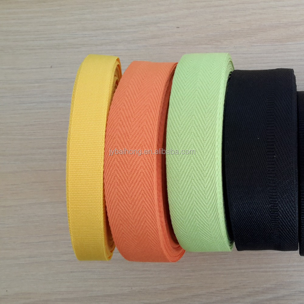Flat polyester nylon 1.5 inch cotton webbing for bags
