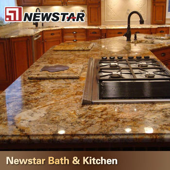 Chinese Polished Golden Persa Granite Kitchen Countertop