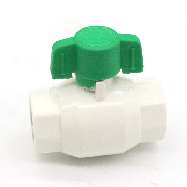 Plastic PPR brass Ball Valves ABS Handle Gardening Greenhouse Wholesale low pressure valve