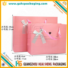 Good Quality Monogrammed Pink Paper Bags With Fancy Design