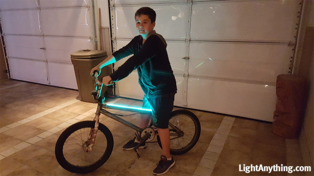LightAnything - Super Bright Portable Multi-Colored Flat LED Light Strip with Battery Box for Snowboards, Skis. NO PLUG NEEDED! Waterproof
