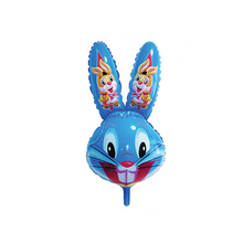Hot selling blue kleur opblaasbare plastic giant konijn cartoon <span class=keywords><strong>ballonnen</strong></span>